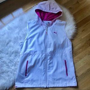 Vintage Puma Hooded Sleeveless Vest Jacket